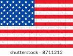 flag of usa | Shutterstock .eps vector #8711212