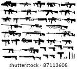 big arsenal weapon | Shutterstock .eps vector #87113608
