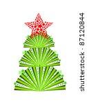 vector illustration of fir tree | Shutterstock .eps vector #87120844