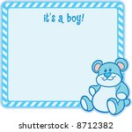 """it's a boy "" baby arrival... | Shutterstock .eps vector #8712382"