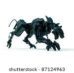 3d wild hunter   cyber panther   Shutterstock . vector #87124963