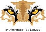 animal,cat,cougar,eye,graphic,high school,icon,illustration,image,mascot,mountain lion,mountain lions,predator,school,sport