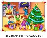 poster of christmas   Shutterstock . vector #87130858