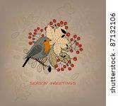 autumn card | Shutterstock .eps vector #87132106