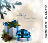 vector christmas composition on ... | Shutterstock .eps vector #87132592