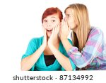 teenage girl whispering in... | Shutterstock . vector #87134992