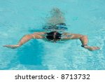 swimming young man  the... | Shutterstock . vector #8713732