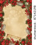 christmas greeting card | Shutterstock . vector #87142198