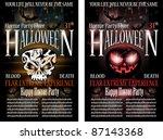 halloween horror party flyer... | Shutterstock .eps vector #87143368