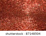 full frame abstract spiral background - stock photo