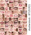collage of mouths with... | Shutterstock . vector #87151921