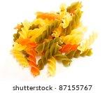 dried italian pasta  macaroni ... | Shutterstock . vector #87155767