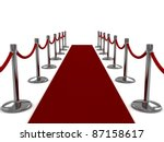 3d illustration of a red carpet ... | Shutterstock . vector #87158617
