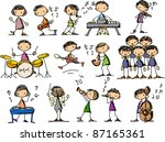 set of music doodles | Shutterstock . vector #87165361