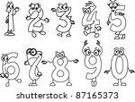cartoon numbers | Shutterstock .eps vector #87165373