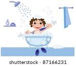kid in bath | Shutterstock . vector #87166231