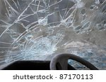 Crashed Windshield Seen From...