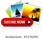 big red subscribe now button... | Shutterstock .eps vector #87170296