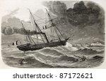French Ship Reine Hortense...