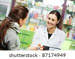 pharmacist suggesting medical... | Shutterstock . vector #87174949