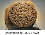 24 Ton Aztec Calendar Stone  ...