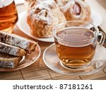 tea  biscuits and pastry for... | Shutterstock . vector #87181261