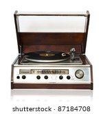 Vintage Record Player With...