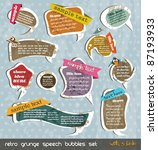 retro grunge speech bubbles... | Shutterstock .eps vector #87193933