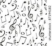 music pattern | Shutterstock .eps vector #87194182