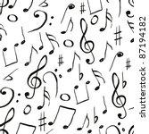 music pattern | Shutterstock .eps vector #87194182