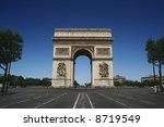 arc de triomphe  paris | Shutterstock . vector #8719549