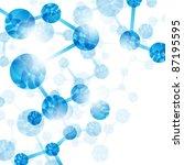 jpg  dna molecule  abstract... | Shutterstock . vector #87195595