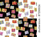 wrapping paper with presents... | Shutterstock .eps vector #87200026