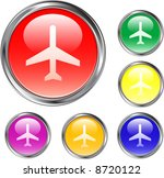 airplane buttons | Shutterstock .eps vector #8720122
