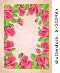 illustration of a funny roses... | Shutterstock .eps vector #87202495