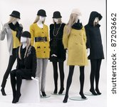 group of fashion on window... | Shutterstock . vector #87203662