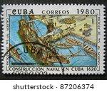 cuba   circa 1980  a stamp... | Shutterstock . vector #87206374
