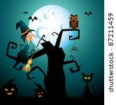 halloween picture | Shutterstock . vector #87211459