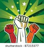 Revolution Hand Poster   Vector ...