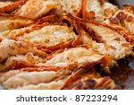 Fried Lobsters In A Pan On A...
