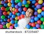 kid  play  ball   little boy... | Shutterstock . vector #87235687