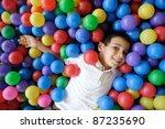 kid  play  ball   little boy... | Shutterstock . vector #87235690