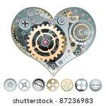 mechanical heart vector... | Shutterstock .eps vector #87236983