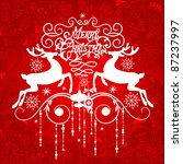 christmas ornament   Shutterstock .eps vector #87237997
