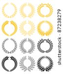 set of gold and black laurel... | Shutterstock .eps vector #87238279