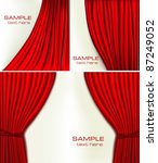 set of backgrounds with red... | Shutterstock .eps vector #87249052