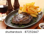 Grilled Rib Fillet Steak With...