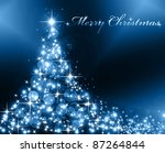 the best christmas golden tree... | Shutterstock . vector #87264844