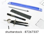 architecture   drawing tools... | Shutterstock . vector #87267337