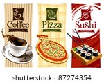 template designs of food... | Shutterstock .eps vector #87274354
